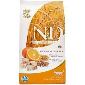 Granule N&D Low Grain CAT Adult Codfish & Orange 10 kg