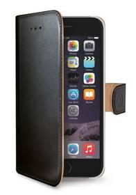 Puzdro na mobil flipové Celly Wally pro Apple iPhone 6/6S (WALLY700) čierne