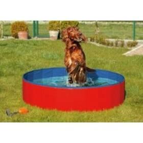 Karlie Skládací bazén pro psy modro/červený 80x20cm