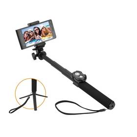 Selfie tyč GoGEN 5 teleskopická, bluetooth, černá