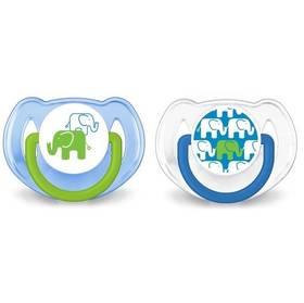 Philips AVENT 6-18m bez BPA, 2ks, slon modré/zelené