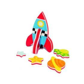 Stavebnica Meadow Kids pěnová  do vany - Raketa