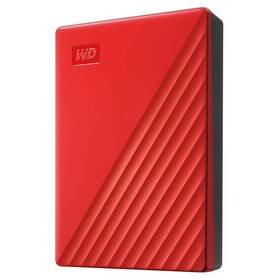 Western Digital My Passport Portable 4TB, USB 3.0 (WDBPKJ0040BRD-WESN) červený