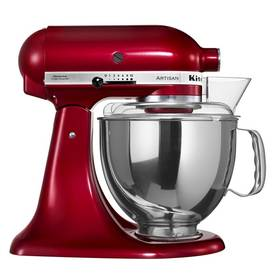 KitchenAid Artisan 5KSM150PSECA červený Příslušenství k robotu KitchenAid KB3SS nerezová mísa (3l) (zdarma)Příslušenství k robotu KitchenAid 5KFE5T plochý šlehač se stěrkou (zdarma) + Doprava zdarma