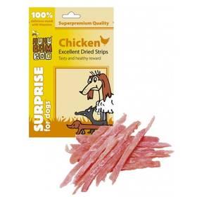 Huhubamboo Surprise Dog Excellent sušené kuřecí proužky 75g