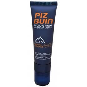 "Kosmetika Piz Buin Sluneční krém SPF 15 a ochranný balzám na rty SPF 30 2 v 1 (Mountain Combi ""2 in 1"" Sun Cream a Lipstick) 20 ml + 2,3 ml"