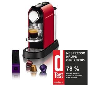 Krups Nespresso Citiz XN7205 červené + Doprava zdarma