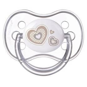 Cumlík Canpol babies NEWBORN BABY silikonové třešinka 6-18m béžové