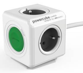 Powercube Extended Switch, 4x zásuvka (8719186004253) šedý/bílý/zelený