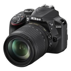 Nikon D3400 + 18-105 AF-S DX VR + 4x čištění čipu zdarma (VBA490K003) černý + Doprava zdarma
