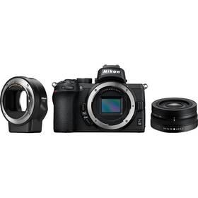 Nikon Z50 + 16-50 VR + adaptér bajonetu FTZ (VOA050K004) čierny