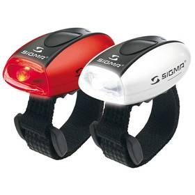 Sigma sada - zadní a přední světlo Sigma MICRO, přední(bílé) a zadní (červené) C3 bílá/červená + Doprava zdarma
