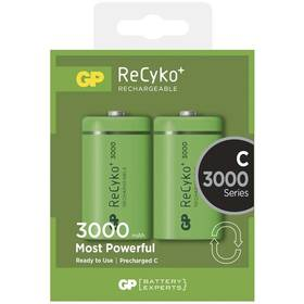 GP ReCyko+ C, HR14, 3000mAh, Ni-MH, krabička 2ks (1033312010) zelená (poškozený obal 5800129375)