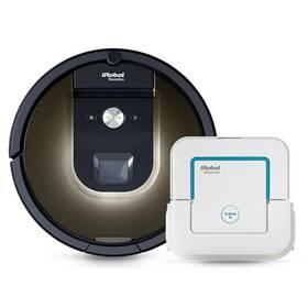 iRobot Roomba 980 + Braava jet 240 bílý/hnědý + Doprava zdarma