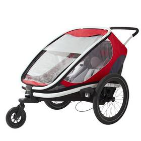 """Dětský vozík za kolo Hamax Outback """"2in1"""" - červená/šedá/černá + Doprava zdarma"""