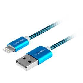 GoGEN USB / lightning, 1m, opletený (LIGHTN100MM26) modrý