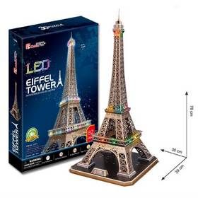 Alltoys Eiffelova věž/LED 3D - 82 dílků