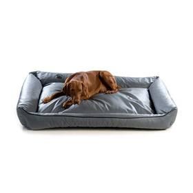 Pelech Argi pro psa obdélníkový EKO kůže - 150x115 cm / snímatelný potah sivý