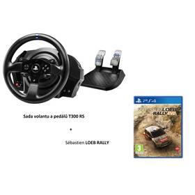Thrustmaster T300 RS RALLY PACK + pedály + hra Sébastien Loeb Rally pro PS3, PS4 a PC (4160693) černý + Doprava zdarma