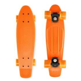 """Street Surfing Beach Board Gnarly Sunset 22,5"""" x 6,3"""" oranžový + Reflexní sada 2 SportTeam (pásek, přívěsek, samolepky) - zelené v hodnotě 58 Kč"""
