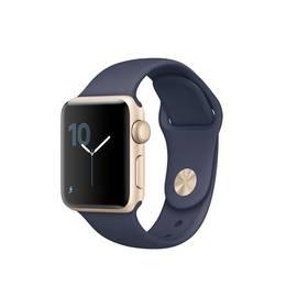 Apple Watch Series 2 38mm pouzdro ze zlatého hliníku -  půlnočně modrý sportovní řemínek (MQ132CN/A)