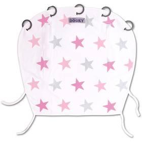 Slnečná clona Dooky Pink Stars - univerzální