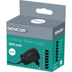 Adaptér Sencor SPS 6, stab. 600 mA
