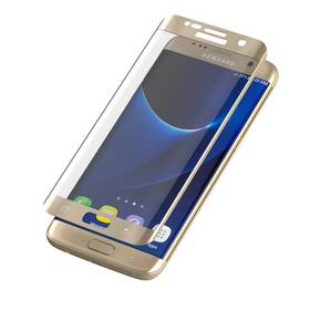 InvisibleSHIELD Glass Contour pro Samsung Galaxy S7 Edge - zlatý rám (ZGG7ECGS-GD0)