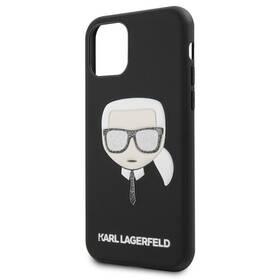 Karl Lagerfeld Embossed Glitter pro Apple iPhone 11 Pro (KLHCN58GLBK) černý