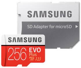 Samsung Micro SDXC EVO+ 256GB UHS-I U3 (100R/90W) + adapter (MB-MC256GA/EU) + Doprava zdarma