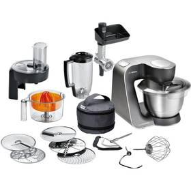 Bosch MUM57860 černý/stříbrný + Doprava zdarma