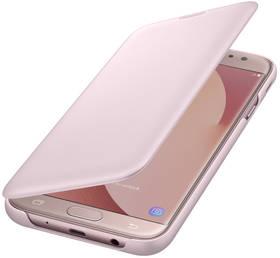Samsung Wallet Cover pro J7 (2017) (EF-WJ730CPEGWW) růžové