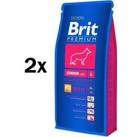 Brit Premium Dog Senior L 2 x 15 kg + Doprava zdarma