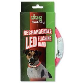 Obojok Dog Fantasy LED světelný 70cm ružový