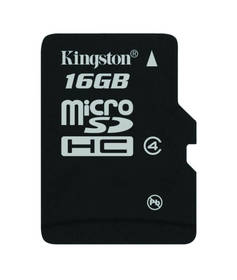 Kingston MicroSDHC 16GB Class4 (SDC4/16GBSP)