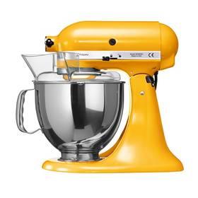 KitchenAid Artisan 5KSM150PSEYP žlutý Příslušenství k robotu KitchenAid KB3SS nerezová mísa (3l) (zdarma)Příslušenství k robotu KitchenAid 5KFE5T plochý šlehač se stěrkou (zdarma) + Doprava zdarma