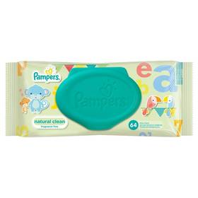 Pampers Natural Clean 64ks