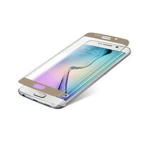 Ochranné sklo InvisibleSHIELD Glass Contour pro Samsung Galaxy S6 Edge - zlatý rám (ZGG6ECGS-GD0) (poškodený obal 8616006438)
