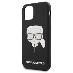 Karl Lagerfeld Embossed Glitter pro Apple iPhone 11 (KLHCN61GLBK) černý