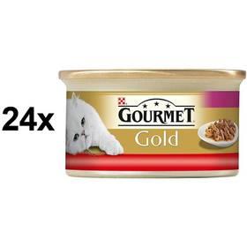 Gourmet Gold s hovězím a kuřetem 24 x 85g