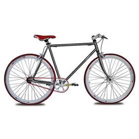Coppi Scatto Fisso šedé Sada cyklodoplňků (zvonek+blikačka+světlo) pro kolo dospělé (zdarma)