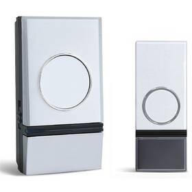 Zvonek bezdrátový Solight 1L28, do zásuvky, 200m (1L28) stříbrný/bílý (poškozený obal 8800310925)