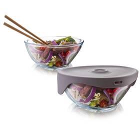 Tomorrow's Kitchen Single Serve Steamer Grey šedý/sklo