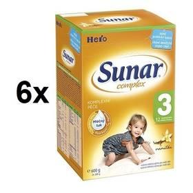 Sunar Complex 3 vanilka, 600g x 6ks + Doprava zdarma