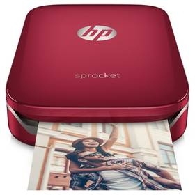 HP Sprocket Photo Printer (Z3Z93A#633) červená