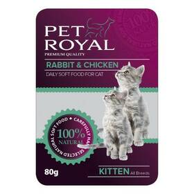 Pet Royal Cat králík+kuře 80 g
