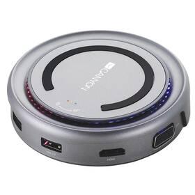 Canyon USB/USB-C/HDMI/VGA/USB-C PD 100W (CNS-TDS07DG) šedá