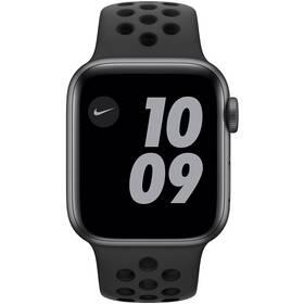Apple Watch Nike SE GPS 44mm pouzdro z vesmírně šedého hliníku - antracitový/černý sportovní náramek Nike (MYYK2HC/A)