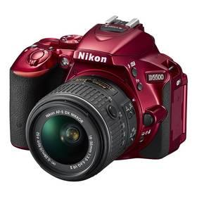 Nikon D5500 + AF-P 18-55 VR červený + Přenosný reproduktor GoGEN BS 113 BM, černý/ocelový v hodnotě 799 Kč + Doprava zdarma