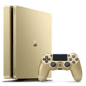 Sony PlayStation 4 SLIM 500GB + DualShock4 (PS719847960) zlatá + Doprava zdarma